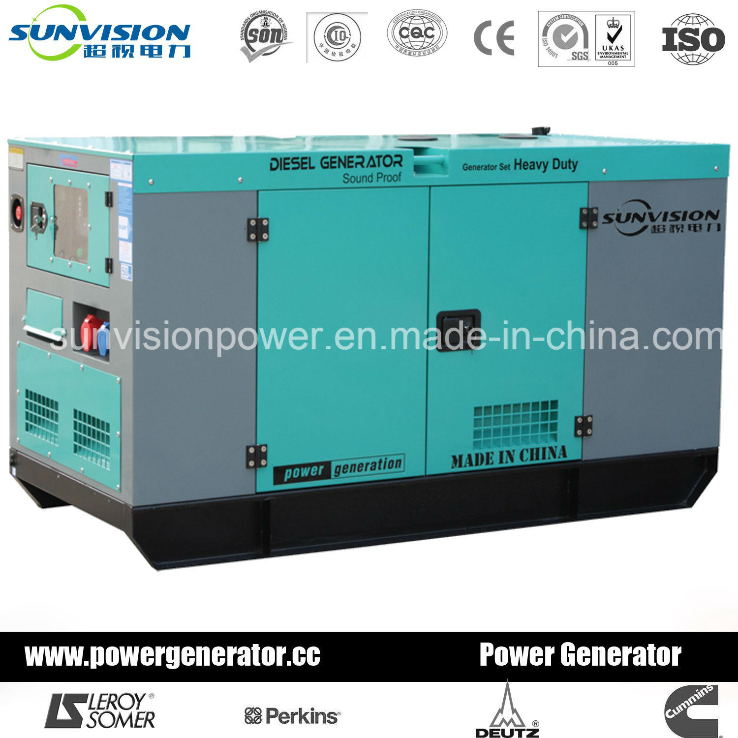 China Made Genset with Perkins Engine 300kVA (60Hz)