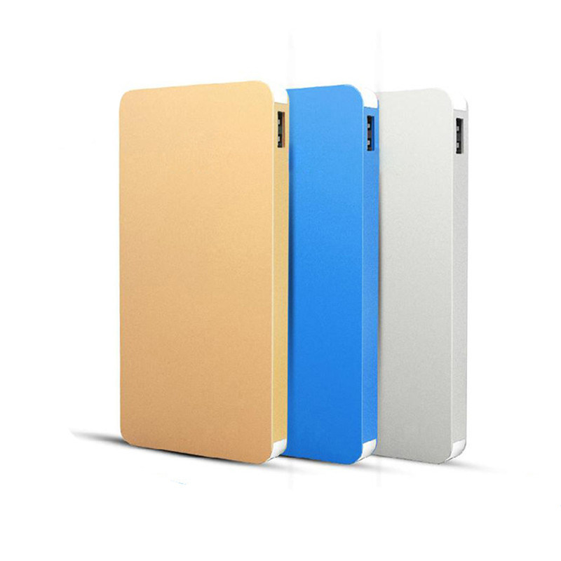 8000mAh Super Slim Metal Texture Power Bank for Smart Phone Charger