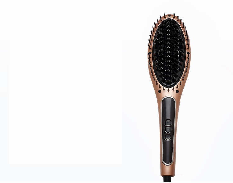 LCD Display Steam Hair Straightener Brush