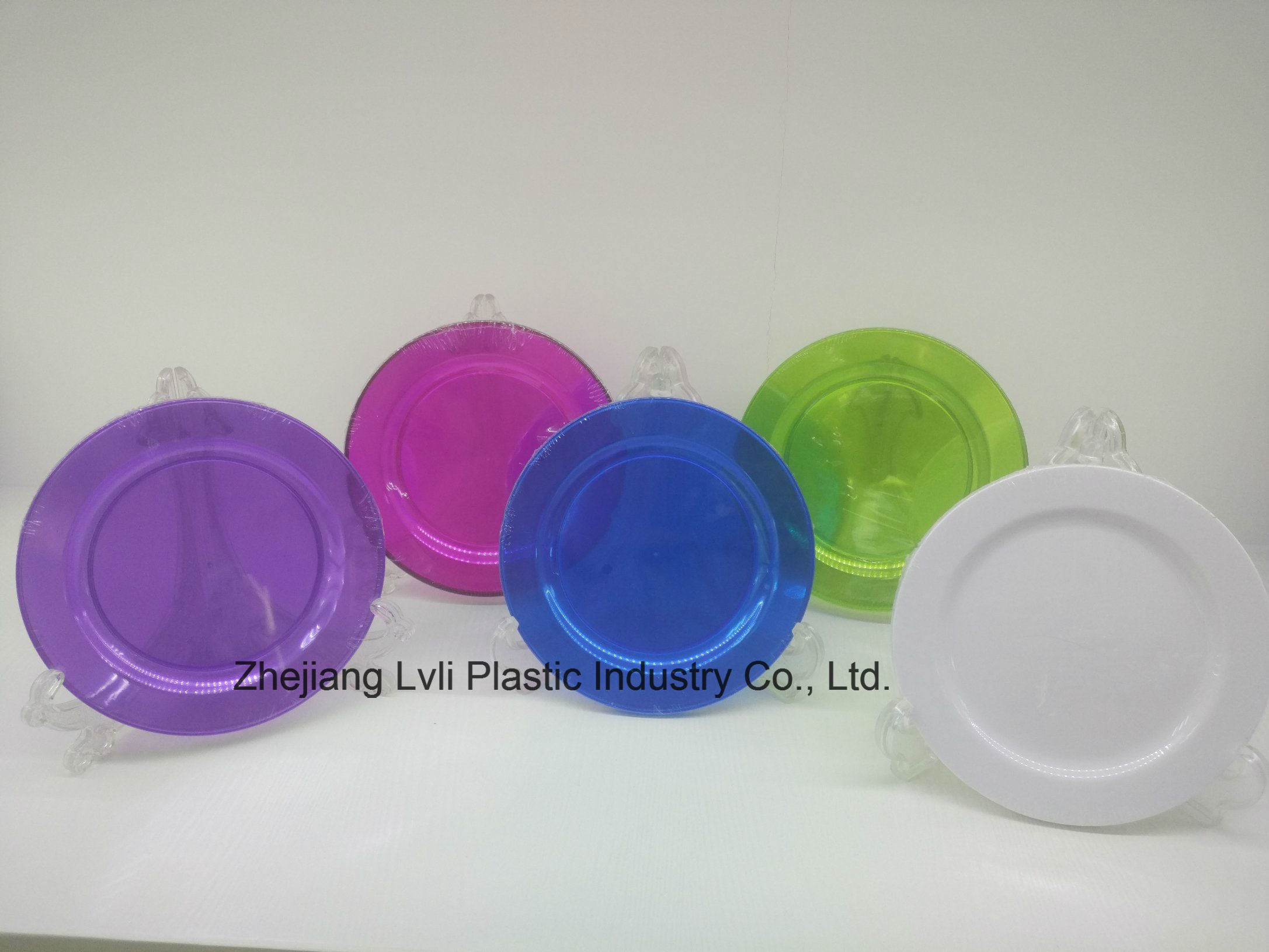 Plastic Plate, Disposable, Tableware, Tray, Dish, Colorful, PS, Transparent, PA-04