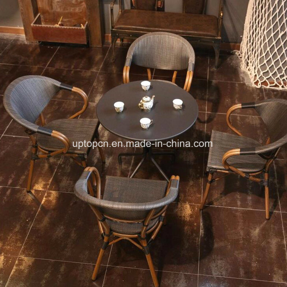 (SP-CT835) Cafe Outdoor Used Aluminum Chair Table Starbucks Furniture Set
