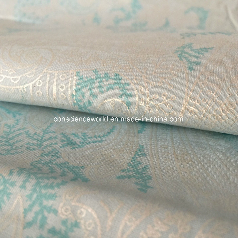 Polyester/Cotton65/35 Pearl Powder Printed Down-Proof Fabric for Home Textile 140GSM