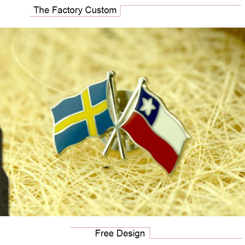 High Quality Metal Flag Pin of The Lacquer That Bake