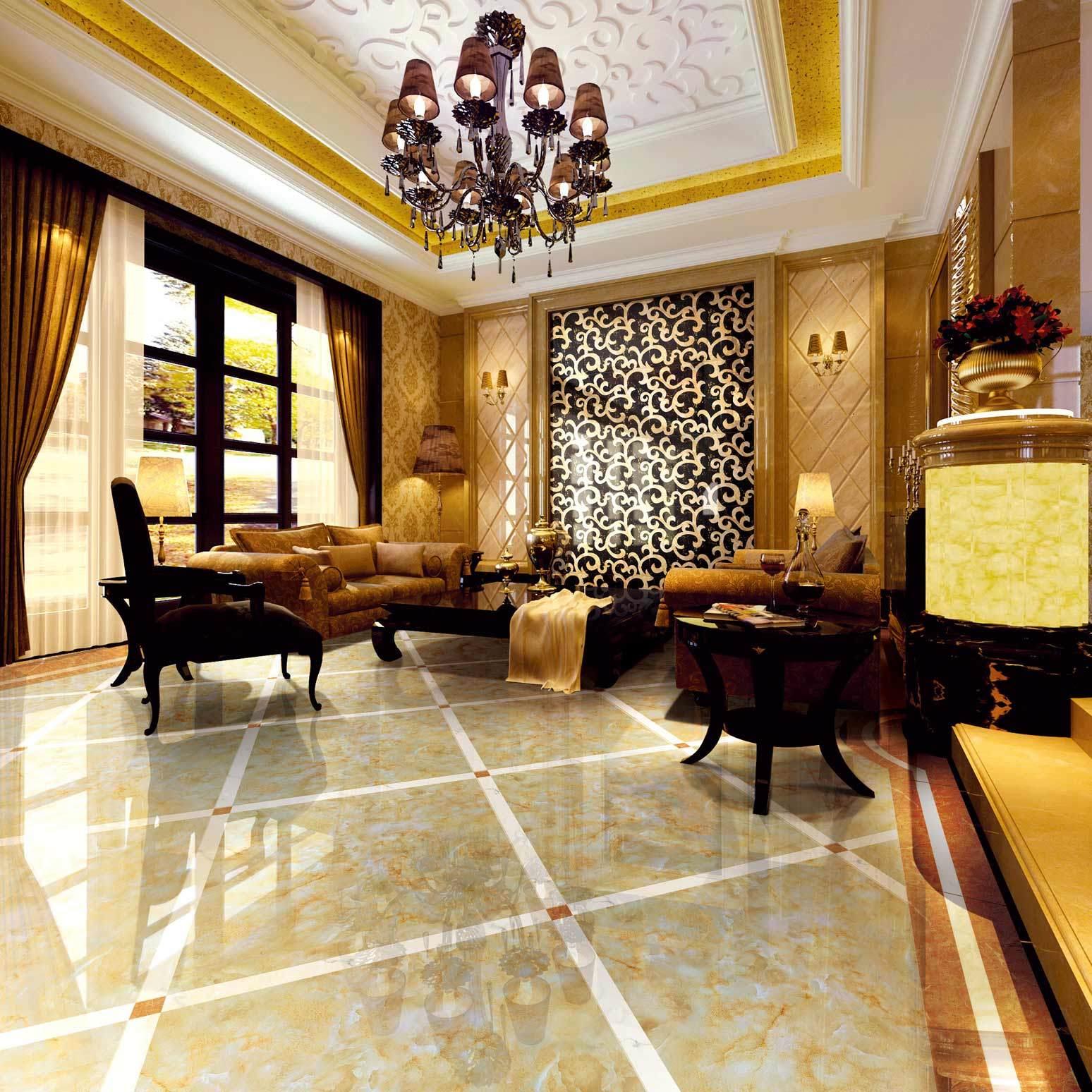 Burma Jade Colorful Marble Tile Romanio High-End Royal Luxury Dining Living Room