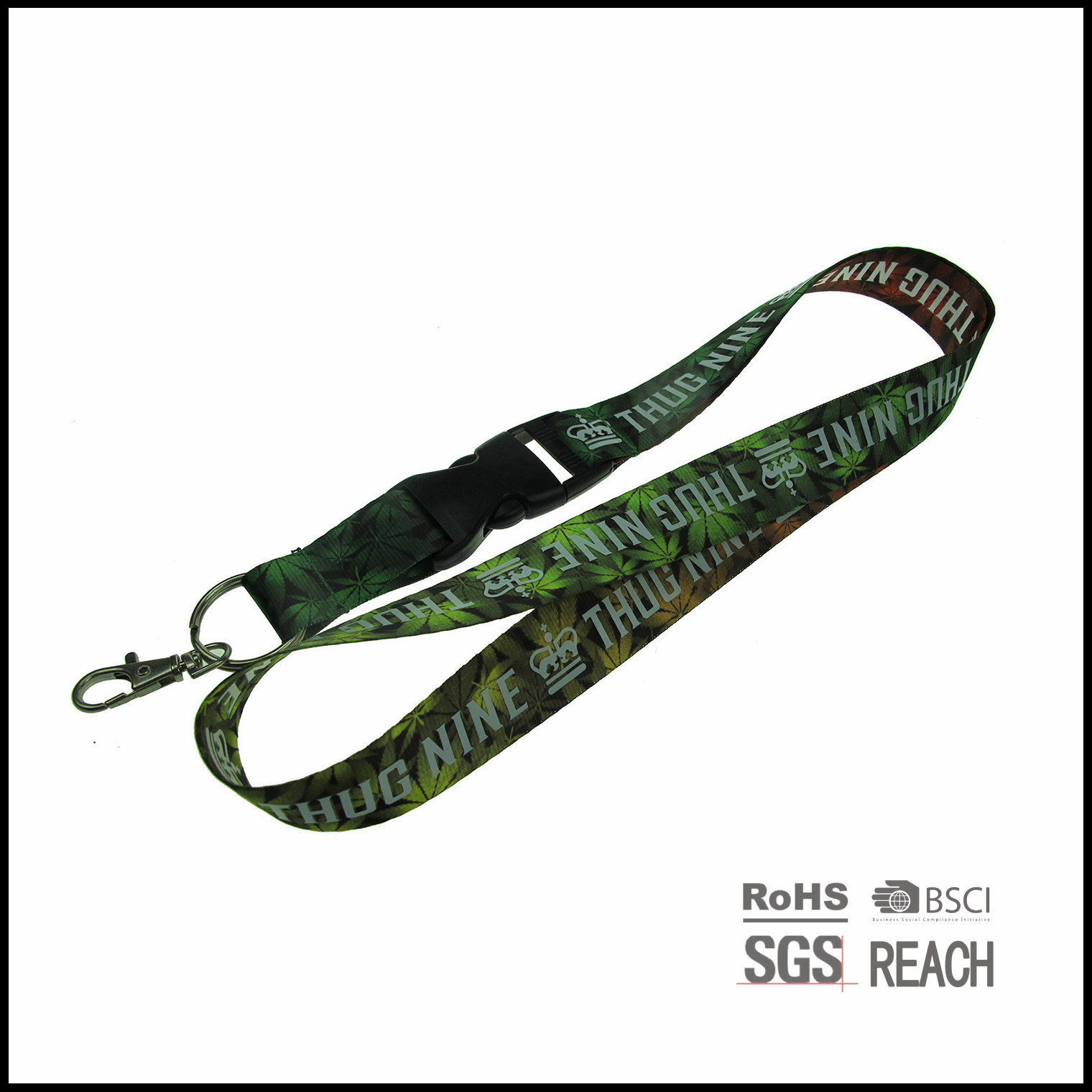 High Quality Sublimation and Screen Printed Nylon Neck Sport Lanyard