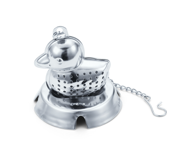 The Duck Tea Set with Chain Tea Strainer