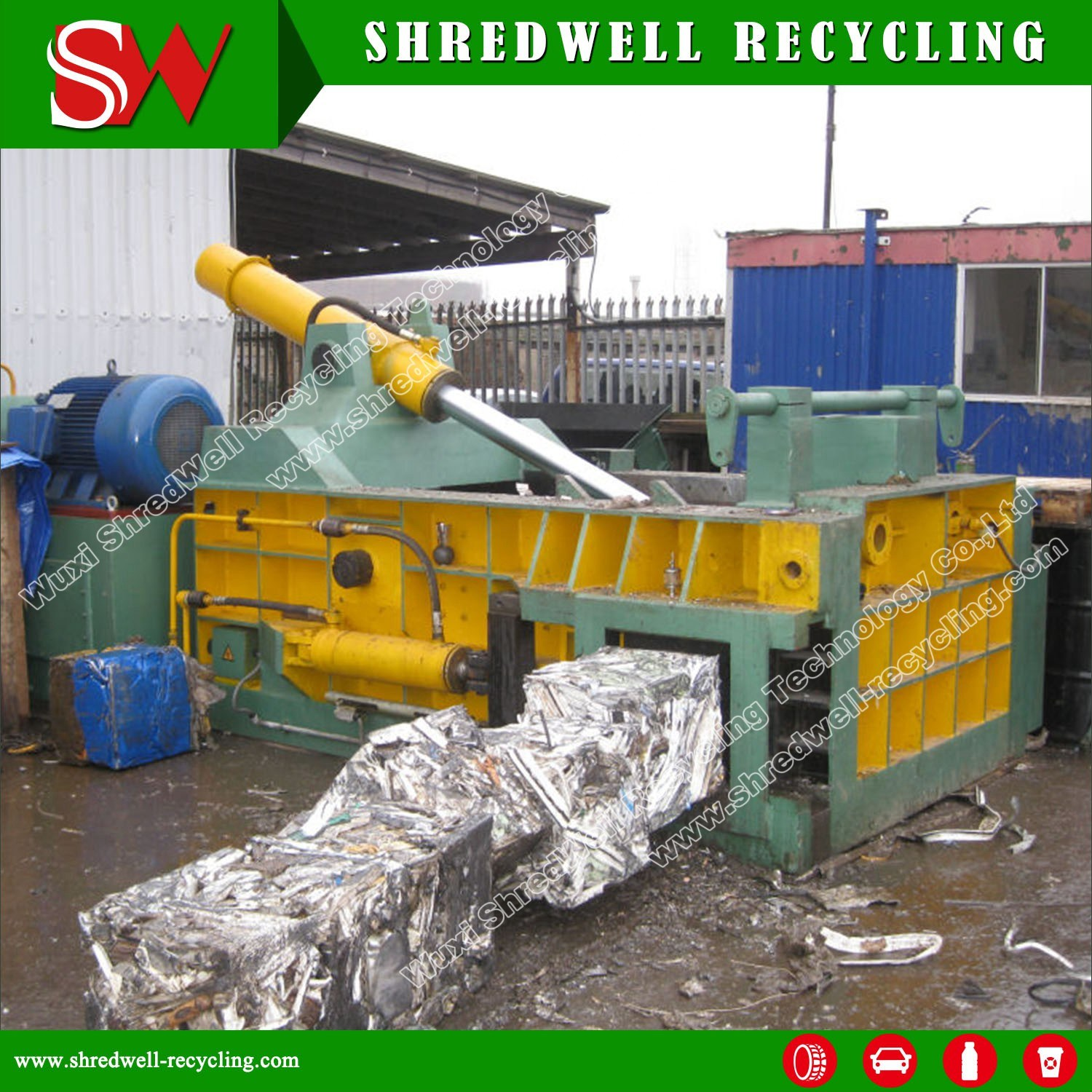 Automatic Hydraulic Scrap Metal Baler for Recycling Waste Steel/Aluminum/Iron