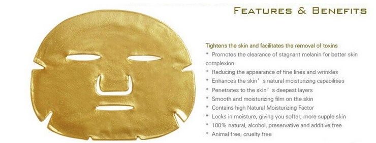 24k Nano Gold Collagen Crystal Moisturizing Facial Mask Sheet