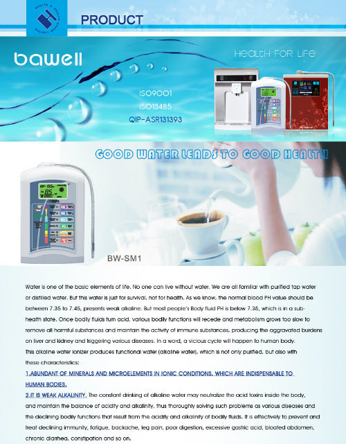 High Quality Water Ionizer with Home Usage China Supply
