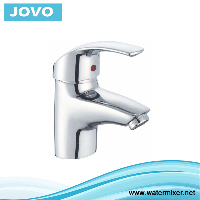 Single Handle Basin Mixer with Finished Chromed Jv70801