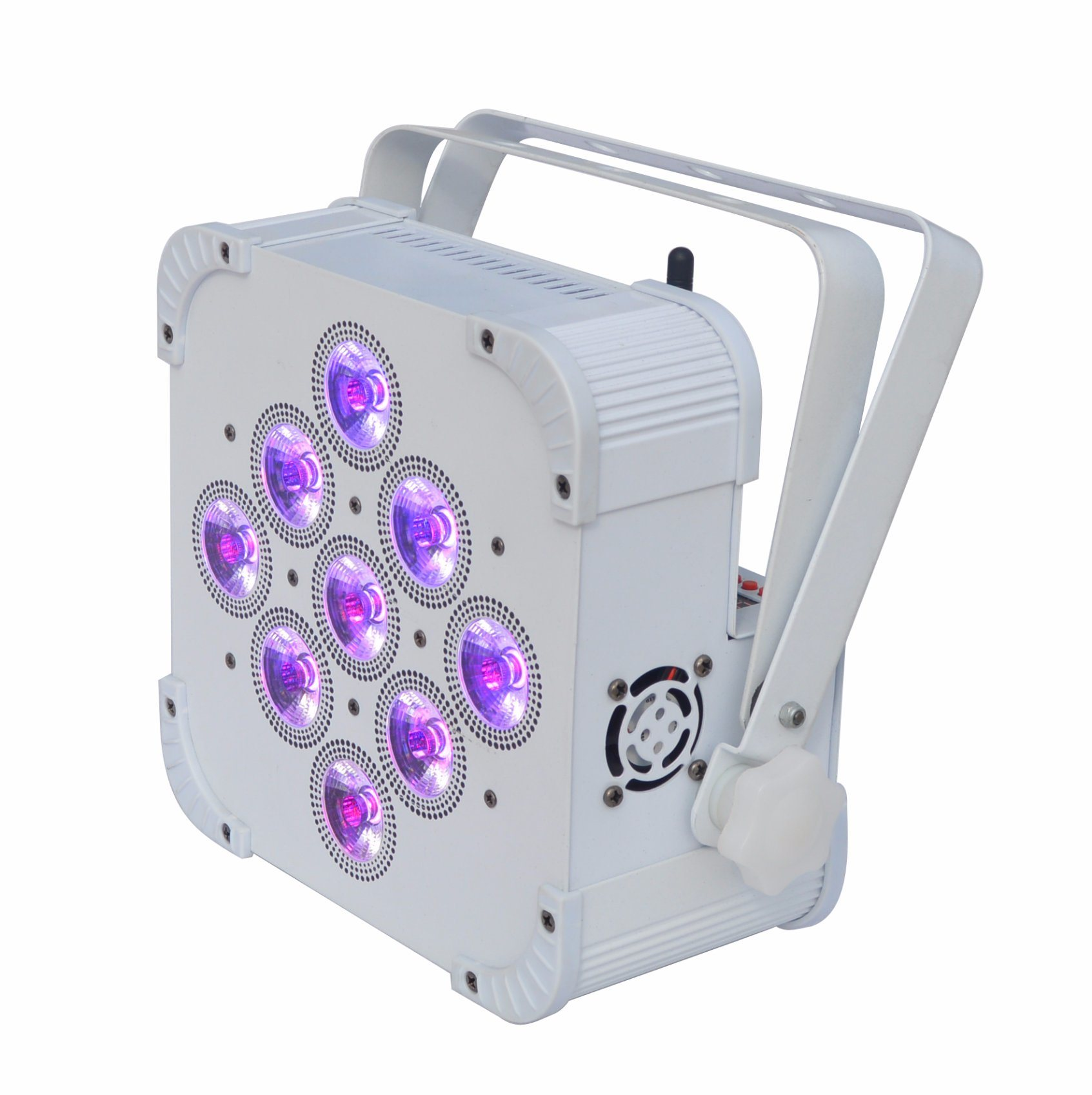 Wireless DMX LED Flat PAR Light 9 X 15W RGBWA 5in1 Color Mixing Non Waterproof IP20 No Battery