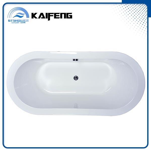 Cupc Modern Black Freestanding Acrylic Bathtub (KF-715K)