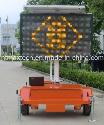 Small Size Trailer Mount Variable Message Traffic Sign Energy Saving and Long Lifespan