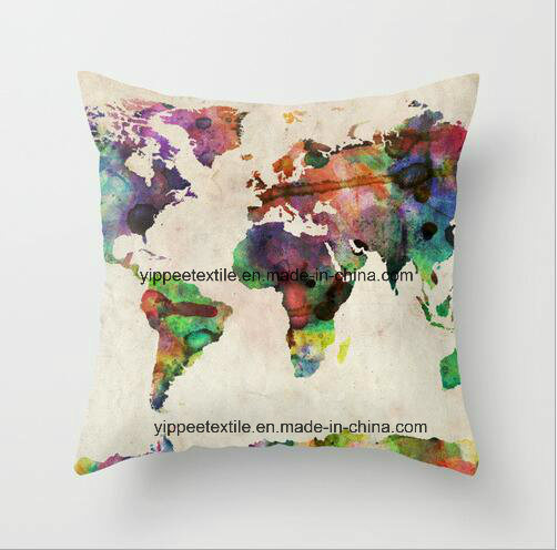 MOQ: 10pieces, Custom Printed Polyester Cushion, Cushion Cover, Back Pillow