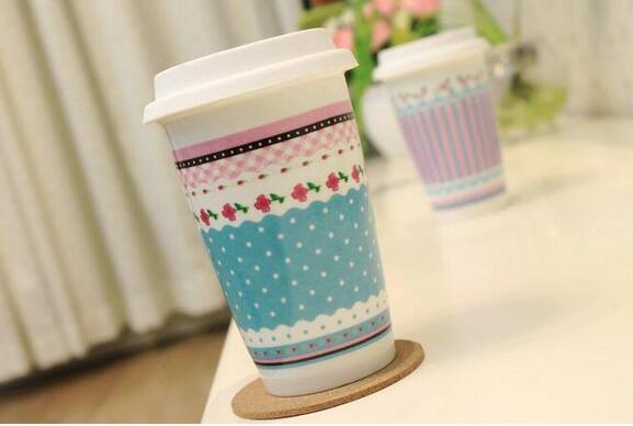14oz Popular Ceramic Mug with Decal for Gift