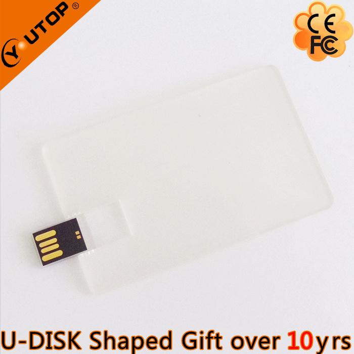 Customerized Gift Transparent Credit Card USB Flash Disk (YT-3114-02)