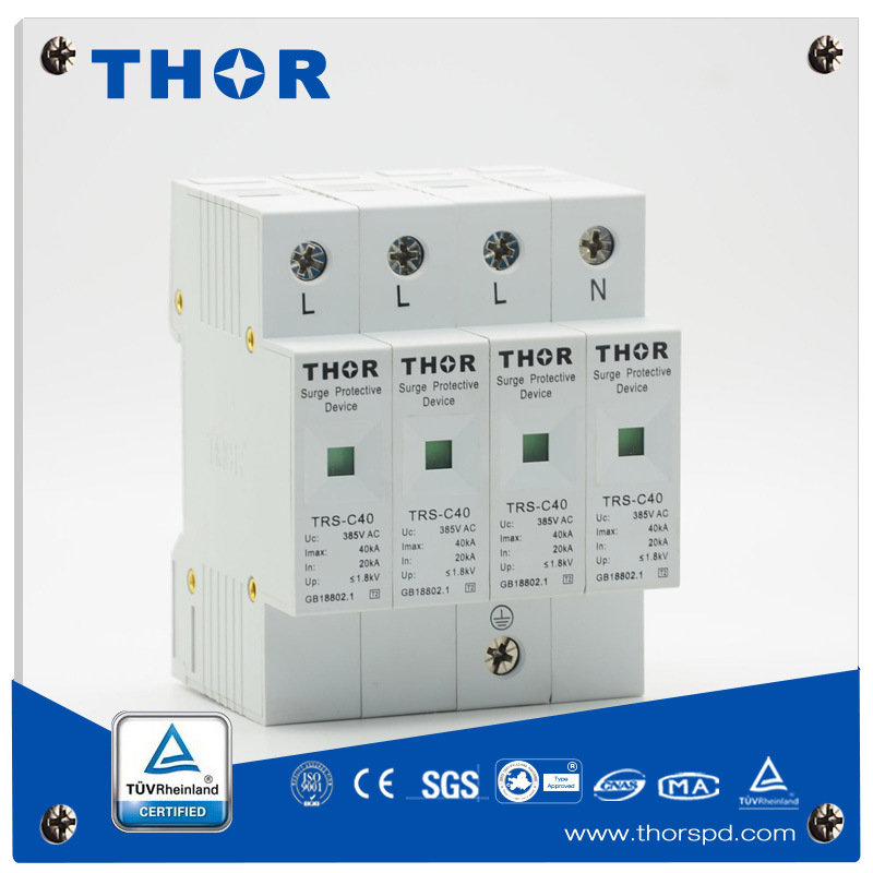 AC Power Lightning Arrester Surge Protector for CE