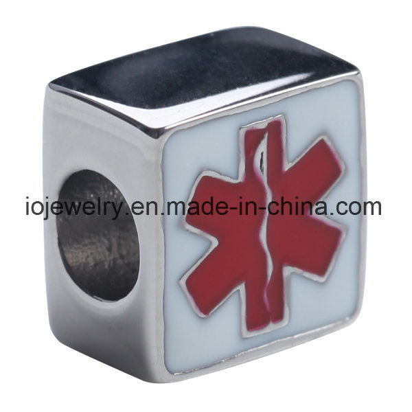 Customzied Flag Pattern Enamel Flag Bead