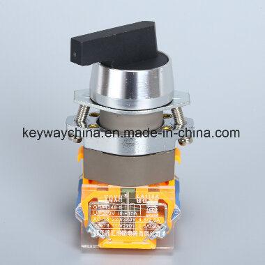 Dia22mm-La118axb Position Push Button Switch, Black, Red, Green Colors, 6V-380V Voltage