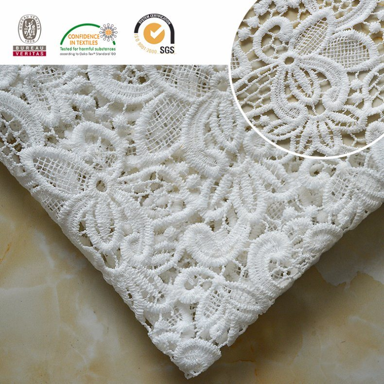 Embroidery Lace Fabric, Floral Pattern, Fashion and Beautiful for African and Swiss Lady Dress E20024