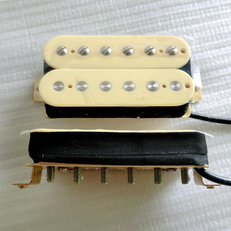 Wax Potted AlNiCo 2 Cream Color Humbucker Guitar Pickup