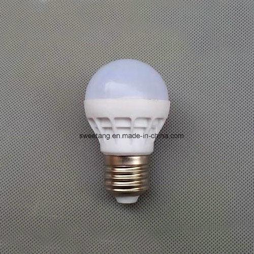 LED Plastic Bulb with E27 E14 Holder in 220V 3W