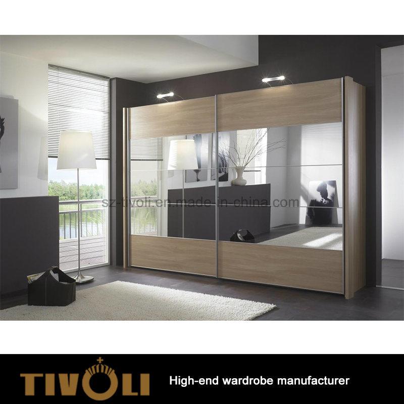Sliding Door Storage Wooden Wardrobe Closet Tivo-0040hw