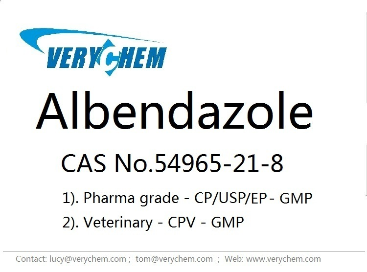 High Purity Veterinary Pharmaceutical Albendazole (CAS 54965-21-8)