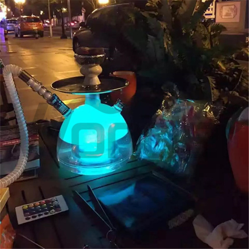 Modern Cool Acrylic Hookahs with LED