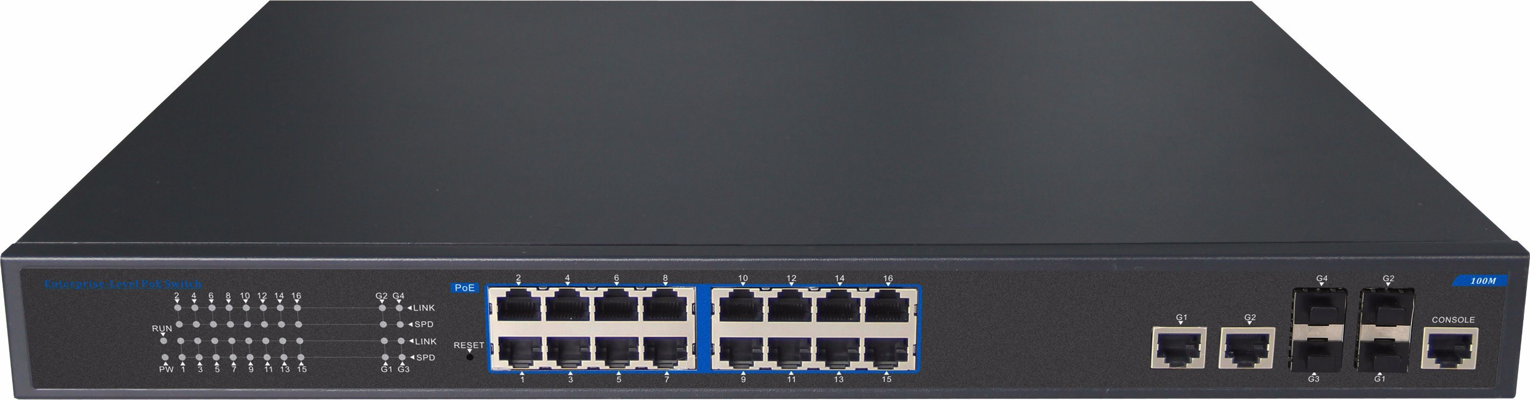 24 Port Managed Poe Fiber Ethernet Network Switch 15.4W