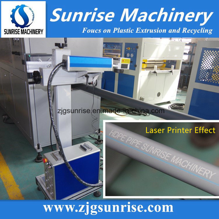 PE HDPE Pipe Extrusion Production Line with Laser Printer
