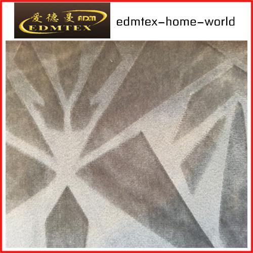 Embossed Velvet 100% Polyester Textile Fabric (EDM5110)
