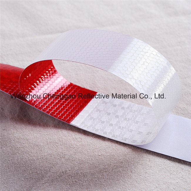Factory Price Red and White Reflective Caution Tape (C3500-B(D))