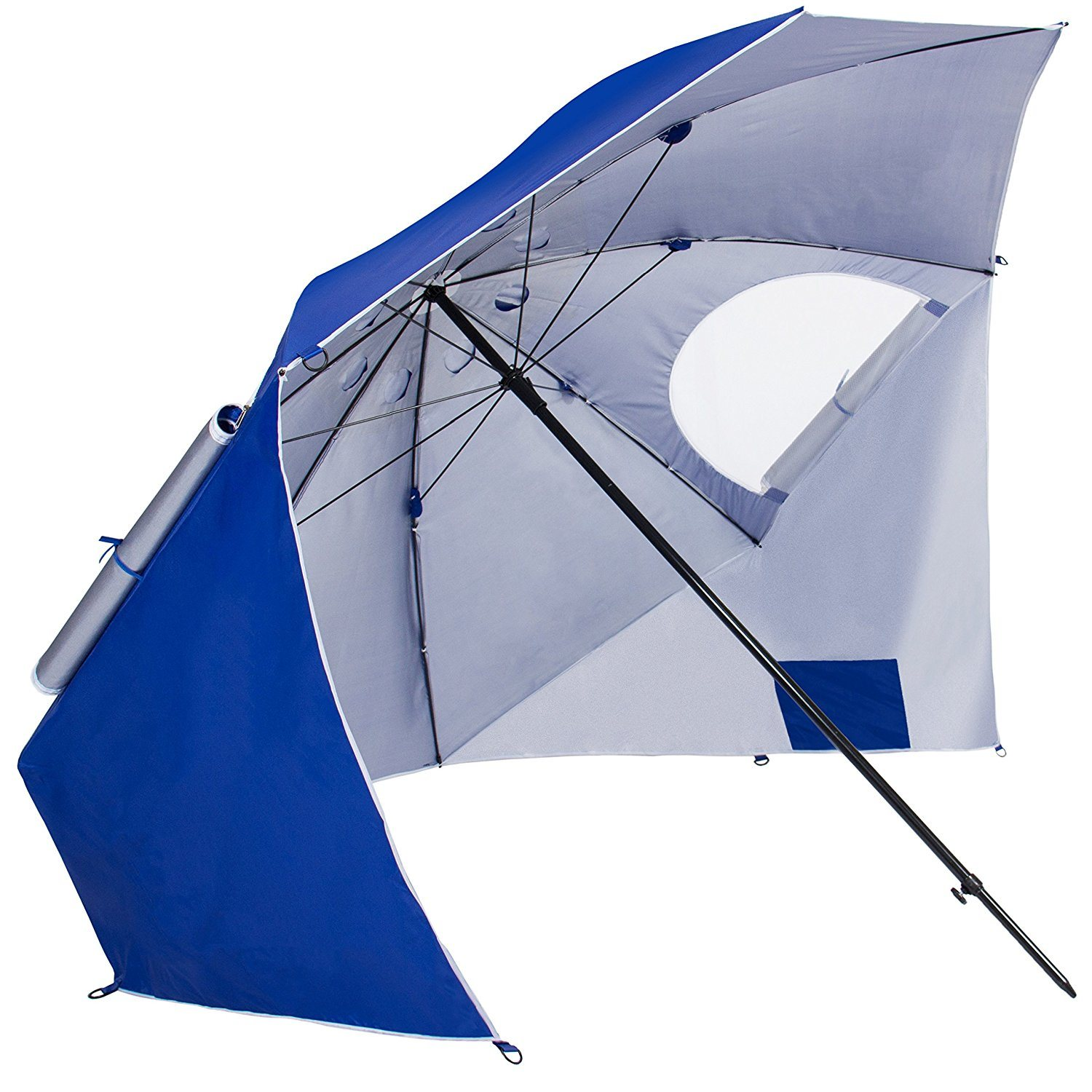 Beach Portable Sun Umbrella Shelter Park Canopy Tent Umbrella with Ground Nails