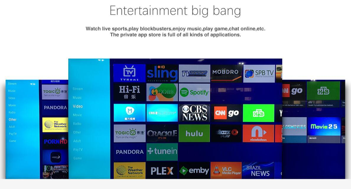 4k Combo A8 Plus H. 265 DVB-S2 & DVB-T2 & DVB-C TV Box HD