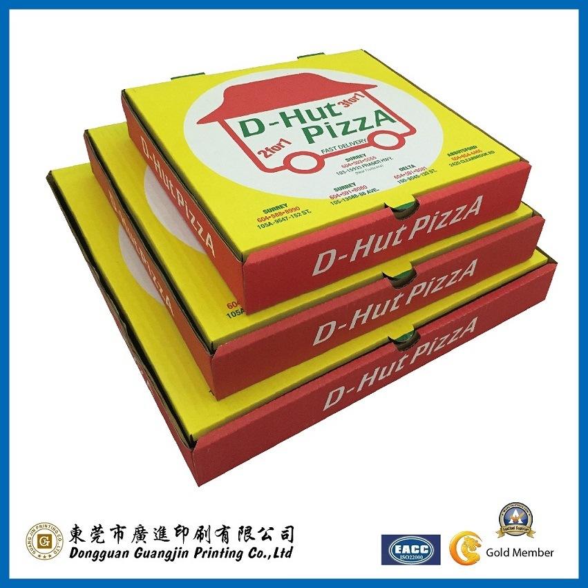 Rigid Corrugated Paper Pizza Packaging Box (GJ-PizzaBox030)