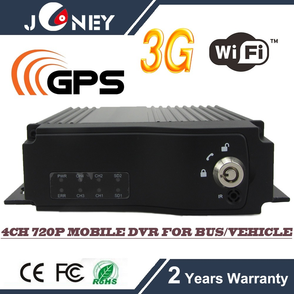 GPS WiFi 3G Mobile Car DVR, H. 264 720p HD DVR for Bus /Truck /Taxi /Vehicle