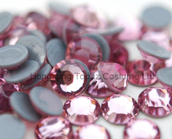 Best Czech Crystal Preciosa Hot Fix Rhinestone for Clothing (SS10 Pink /4A grade)