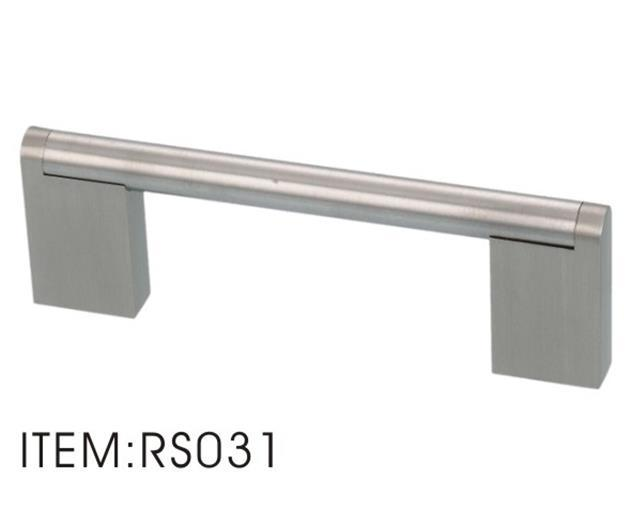 Stainless Steel Handle with Zinc Alloy Flat Legs