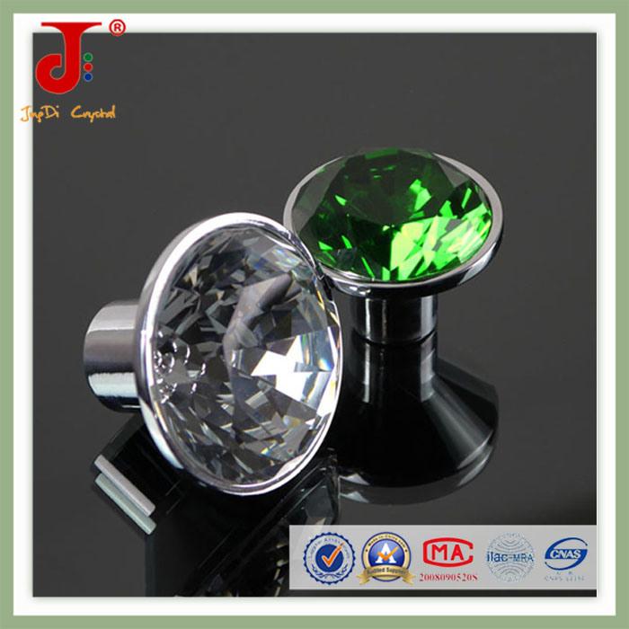 Insert 50mm Big Green Diamond Crystal Door Handle