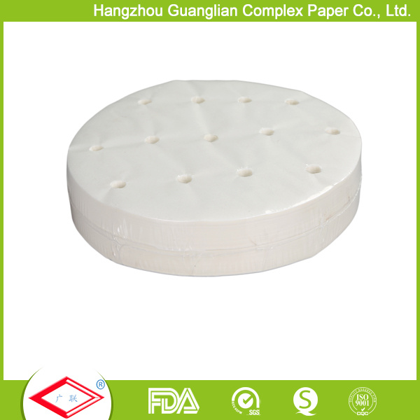 Siliconized Non-Stick Dim Sum Steamer Paper for Chinese Dumplings