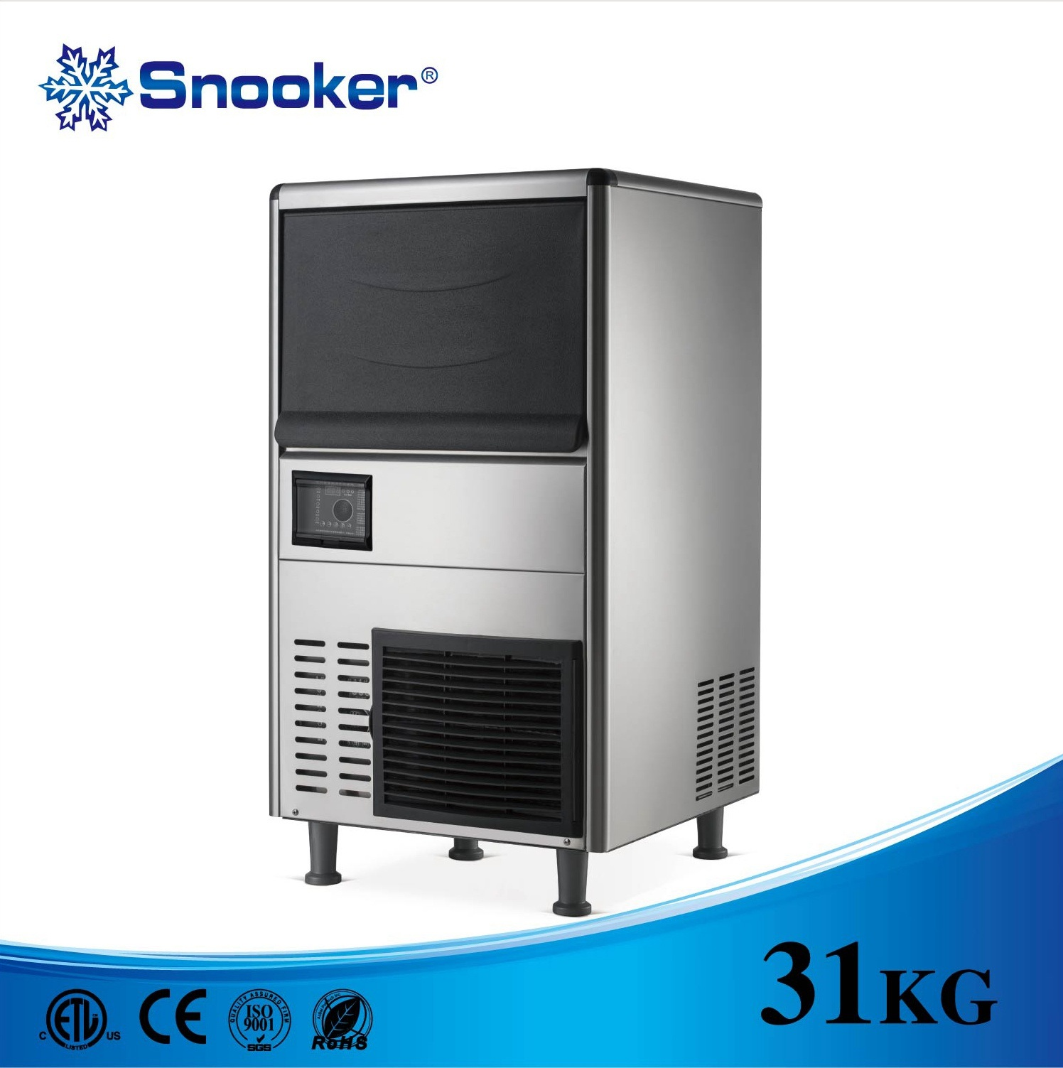 304 Stainless Steel Kitchen Equipment Cube Ice Making Machine Ice Maker 0f 30~100kg