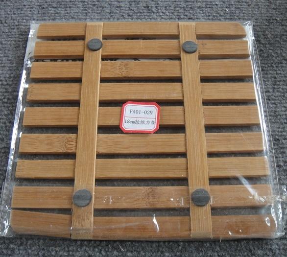 (BC-M1020) Handmade Natural Bamboo Square Heat Insulation Mat