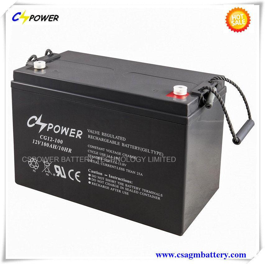 3 Years Warranty Deep Cycle Gel Battery 12V100ah for Solar Storage