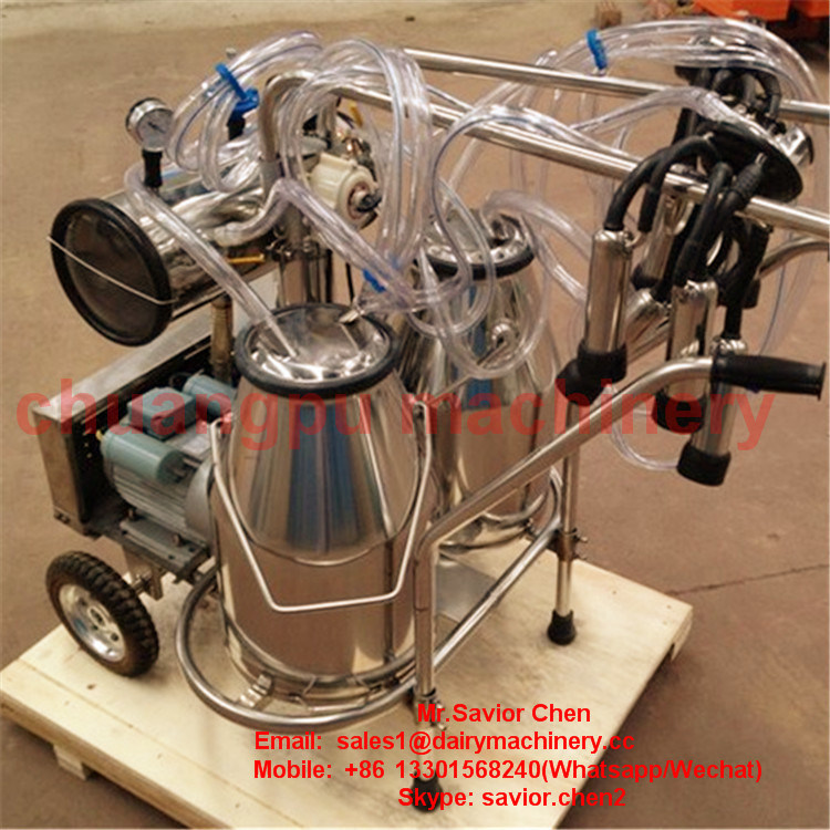 Double Cow Mobile Milking Machine Hl-Jn02