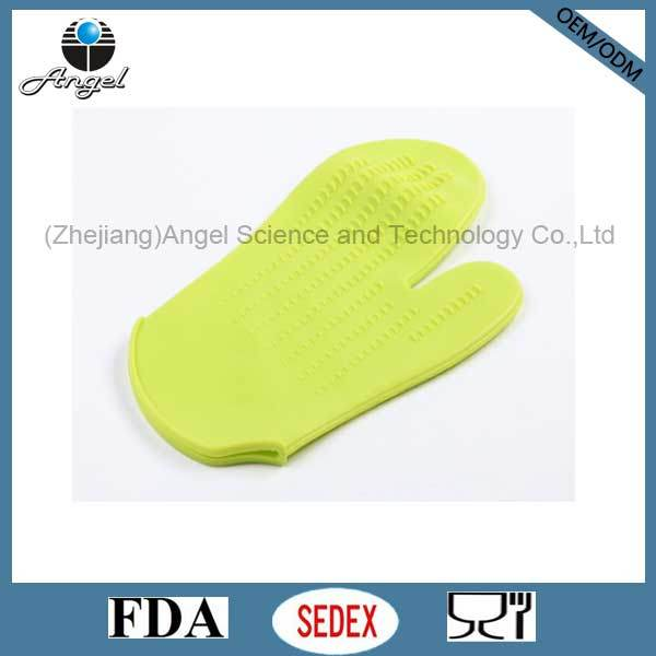 Heat Resistant Silicone Oven Mitten Eco-Friendly Material Sg12