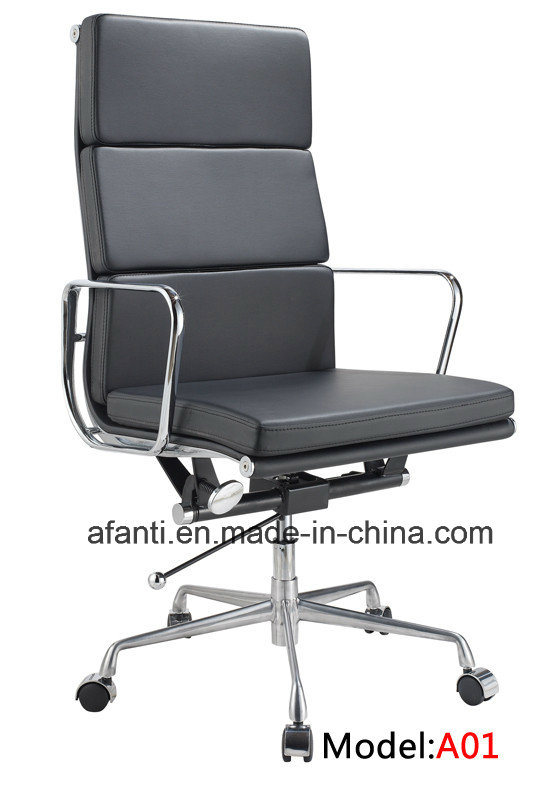 Aluminum Eames Office Executive Manager Leather Chair (RFT-A01)