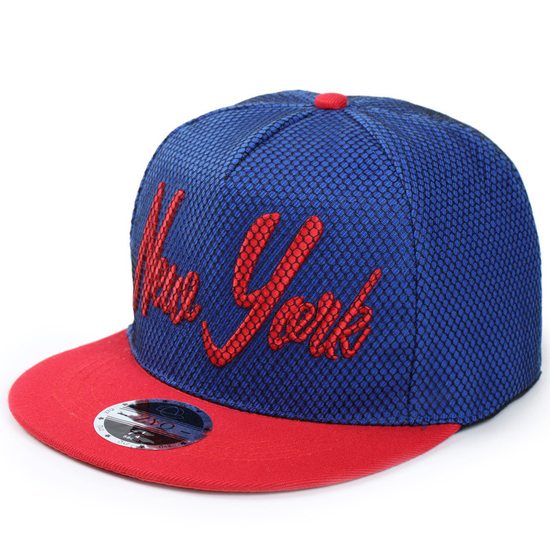 New Design Flat Bill Hip Hop Hats with Mesh Cover