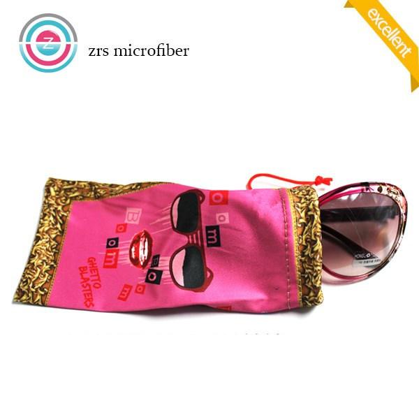 Logo Print Microfiber Sunglasses Bag/Pouch