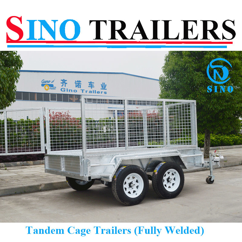10X6 Dual Axle Fully Welded Tandem Cage Trailer